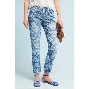 Anthropologie Pilcro Floral Slim Boyfriend Jeans
